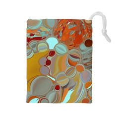 Liquid Bubbles Drawstring Pouches (large)  by theunrulyartist