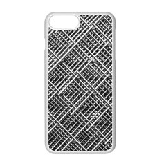 Pattern Metal Pipes Grid Apple Iphone 7 Plus White Seamless Case by Nexatart
