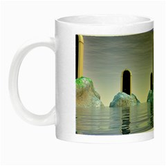 Abstract Gates Doors Stars Night Luminous Mugs by Nexatart