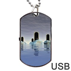 Abstract Gates Doors Stars Dog Tag Usb Flash (two Sides)
