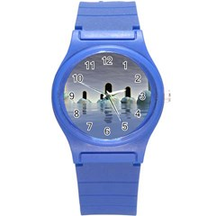 Abstract Gates Doors Stars Round Plastic Sport Watch (s) by Nexatart