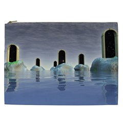 Abstract Gates Doors Stars Cosmetic Bag (xxl)  by Nexatart
