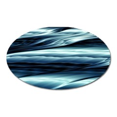 Texture Fractal Frax Hd Mathematics Oval Magnet by Nexatart