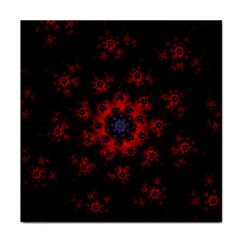 Fractal Abstract Blossom Bloom Red Tile Coasters by Nexatart
