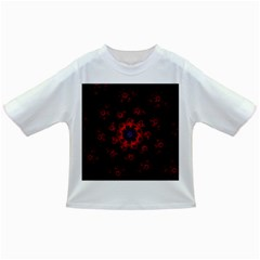 Fractal Abstract Blossom Bloom Red Infant/toddler T Shirts