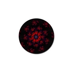 Fractal Abstract Blossom Bloom Red Golf Ball Marker (10 Pack)