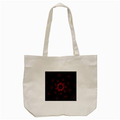 Fractal Abstract Blossom Bloom Red Tote Bag (cream) by Nexatart