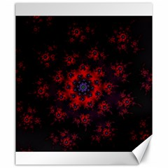Fractal Abstract Blossom Bloom Red Canvas 20  X 24