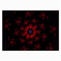 Fractal Abstract Blossom Bloom Red Large Glasses Cloth by Nexatart