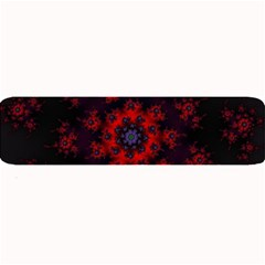Fractal Abstract Blossom Bloom Red Large Bar Mats by Nexatart