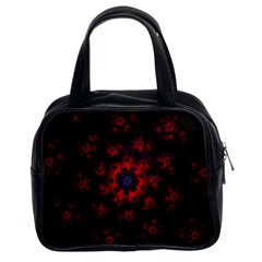 Fractal Abstract Blossom Bloom Red Classic Handbags (2 Sides) by Nexatart