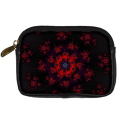 Fractal Abstract Blossom Bloom Red Digital Camera Cases by Nexatart
