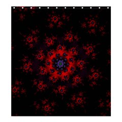Fractal Abstract Blossom Bloom Red Shower Curtain 66  X 72  (large)  by Nexatart