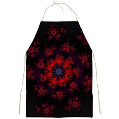 Fractal Abstract Blossom Bloom Red Full Print Aprons by Nexatart