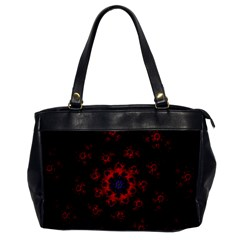 Fractal Abstract Blossom Bloom Red Office Handbags by Nexatart