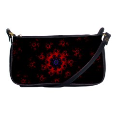 Fractal Abstract Blossom Bloom Red Shoulder Clutch Bags by Nexatart