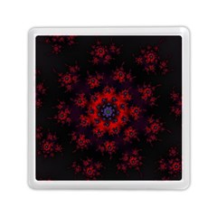 Fractal Abstract Blossom Bloom Red Memory Card Reader (square)  by Nexatart