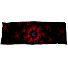 Fractal Abstract Blossom Bloom Red Body Pillow Case Dakimakura (two Sides) by Nexatart