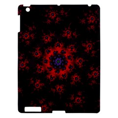 Fractal Abstract Blossom Bloom Red Apple Ipad 3/4 Hardshell Case