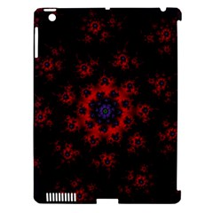 Fractal Abstract Blossom Bloom Red Apple Ipad 3/4 Hardshell Case (compatible With Smart Cover) by Nexatart