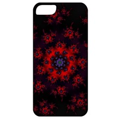 Fractal Abstract Blossom Bloom Red Apple Iphone 5 Classic Hardshell Case