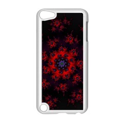 Fractal Abstract Blossom Bloom Red Apple Ipod Touch 5 Case (white)