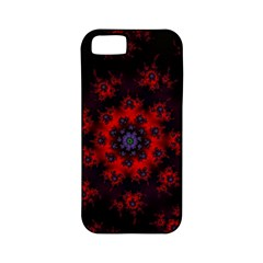 Fractal Abstract Blossom Bloom Red Apple Iphone 5 Classic Hardshell Case (pc+silicone)