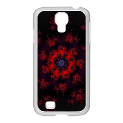 Fractal Abstract Blossom Bloom Red Samsung Galaxy S4 I9500/ I9505 Case (white) by Nexatart