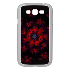 Fractal Abstract Blossom Bloom Red Samsung Galaxy Grand Duos I9082 Case (white)