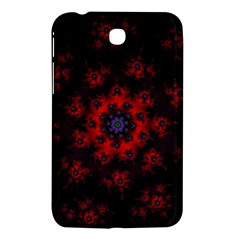 Fractal Abstract Blossom Bloom Red Samsung Galaxy Tab 3 (7 ) P3200 Hardshell Case  by Nexatart