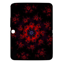 Fractal Abstract Blossom Bloom Red Samsung Galaxy Tab 3 (10 1 ) P5200 Hardshell Case