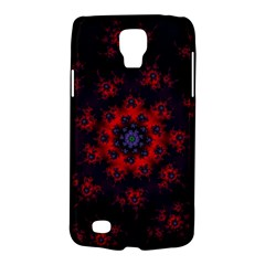 Fractal Abstract Blossom Bloom Red Galaxy S4 Active by Nexatart