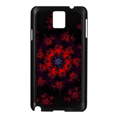 Fractal Abstract Blossom Bloom Red Samsung Galaxy Note 3 N9005 Case (black) by Nexatart