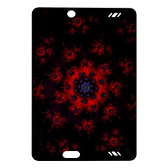 Fractal Abstract Blossom Bloom Red Amazon Kindle Fire Hd (2013) Hardshell Case