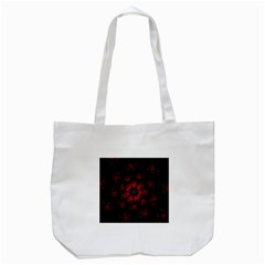 Fractal Abstract Blossom Bloom Red Tote Bag (white) by Nexatart