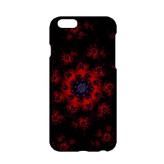 Fractal Abstract Blossom Bloom Red Apple Iphone 6/6s Hardshell Case