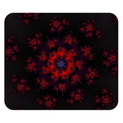 Fractal Abstract Blossom Bloom Red Double Sided Flano Blanket (small)  by Nexatart