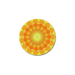 Sunshine Sunny Sun Abstract Yellow Golf Ball Marker (4 Pack)