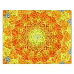 Sunshine Sunny Sun Abstract Yellow Rectangular Jigsaw Puzzl