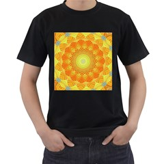 Sunshine Sunny Sun Abstract Yellow Men s T Shirt (black)