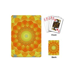 Sunshine Sunny Sun Abstract Yellow Playing Cards (mini)