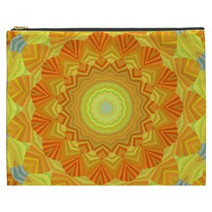 Sunshine Sunny Sun Abstract Yellow Cosmetic Bag (xxxl)  by Nexatart