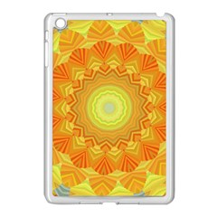 Sunshine Sunny Sun Abstract Yellow Apple Ipad Mini Case (white) by Nexatart