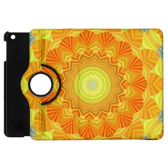 Sunshine Sunny Sun Abstract Yellow Apple Ipad Mini Flip 360 Case by Nexatart