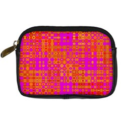 Pink Orange Bright Abstract Digital Camera Cases