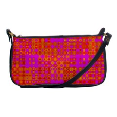 Pink Orange Bright Abstract Shoulder Clutch Bags by Nexatart