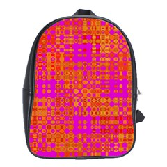 Pink Orange Bright Abstract School Bags (xl)