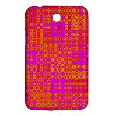 Pink Orange Bright Abstract Samsung Galaxy Tab 3 (7 ) P3200 Hardshell Case  by Nexatart