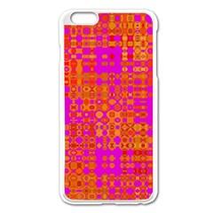 Pink Orange Bright Abstract Apple Iphone 6 Plus/6s Plus Enamel White Case