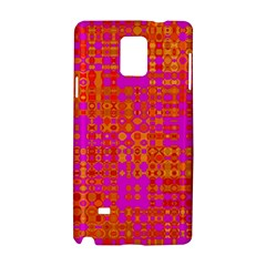 Pink Orange Bright Abstract Samsung Galaxy Note 4 Hardshell Case by Nexatart